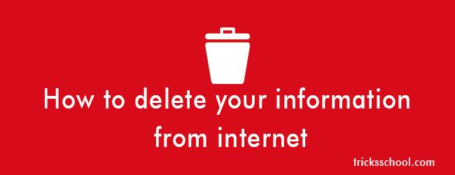 ۵ روش پاک کردن اطلاعات تان از اینترنت