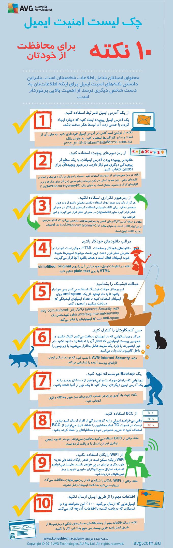 ۱۰ نکته برای حفظ امنیت ایمیل