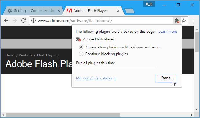 کنترل اجرا شدن فایل فلش در مرورگرهای مختلف