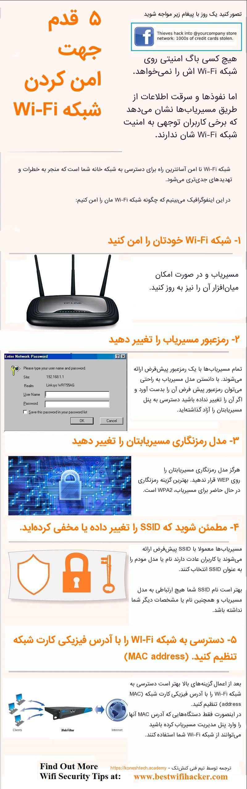 چگونه شبکه Wi-Fi را امن کنیم؟