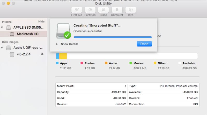 رمزگذاری ساده فایلها در Mac
