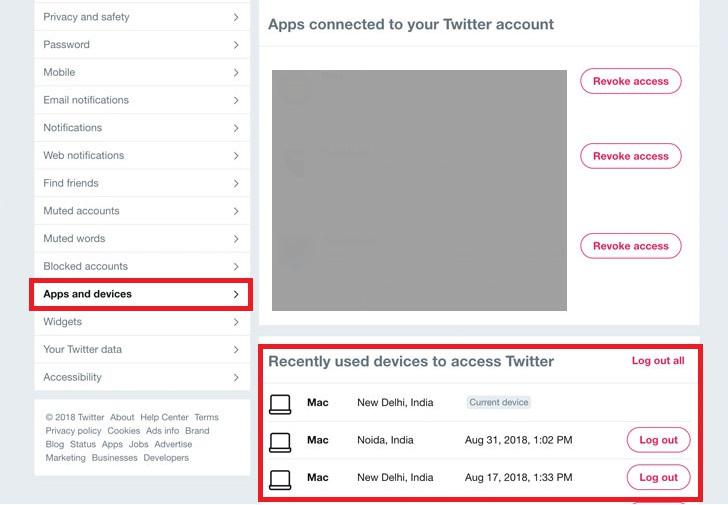 چگونه بفهمیم که دستگاه یا اپلیکیشن دیگری به حساب توییتر ما دسترسی دارند؟