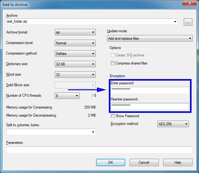چگونه با استفاده از 7Zip فایل یا پوشه را رمزگذاری کنیم