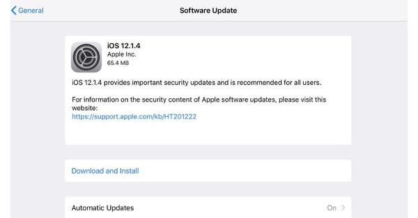 اپل نسخه 12.1.4 سیستم عامل iOS را برای پچ کردن ۲ باگ روز صفر و باگ FaceTime منتشر کرد