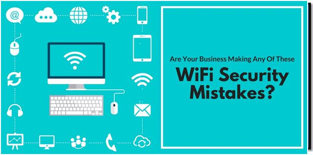 اینفوگرافیک اشتباههای امنیتی WiFi