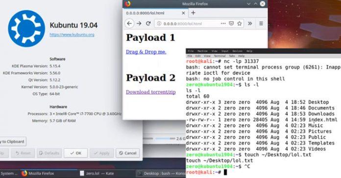 آسیبپذیری در دسکتاپ KDE